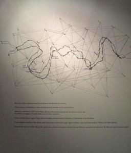 Representación artística del camino cronológico y espacial que recorrieron Marcela y Elisa