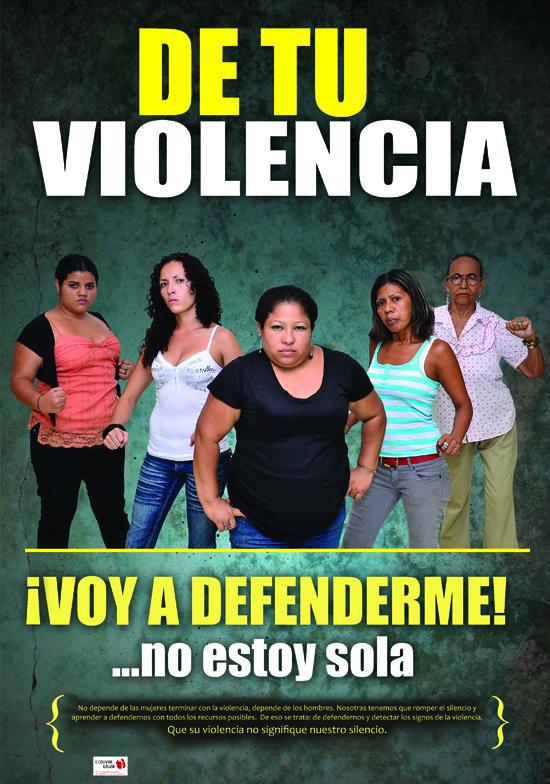 Cartel de la campaña contra la violencia sexista del Colectivo 8 de Marzo de Nicaragua