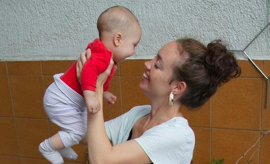 Laia y su hijo Beñat