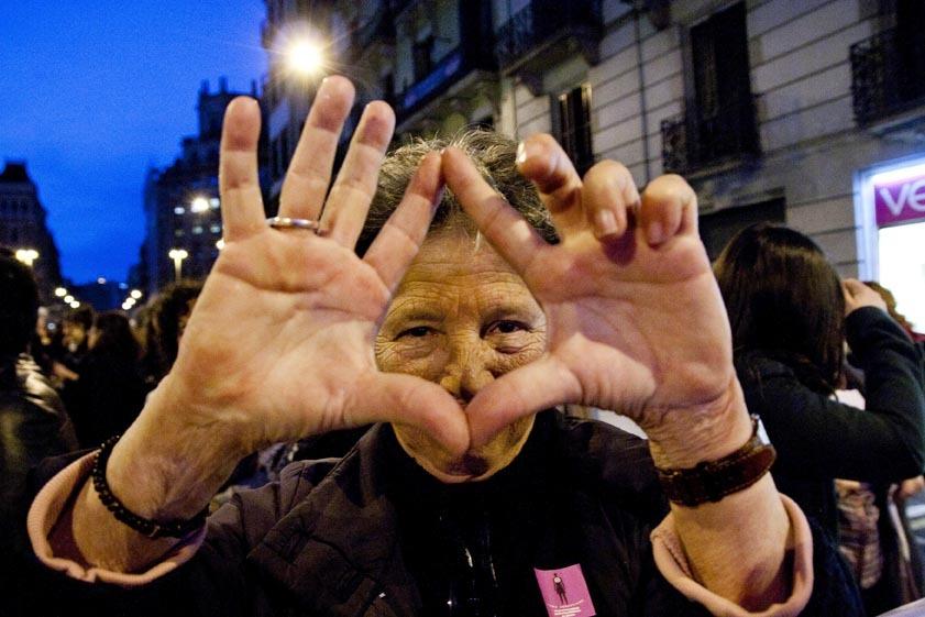 El símbolo del triángulo ha sido cuestionado por relacionar a las mujeres con una genitalidad determinada./ Bárbara Boyero
