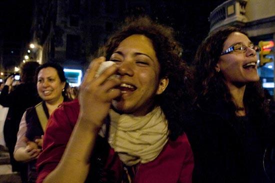 """La manifestación, fuertemente reivindicativa no se olvidó de disfrutar de el hecho de estar en la calle luchando juntas, porque ya sabemos que """"si no puedo bailar, esta no es mi revolución""""."""