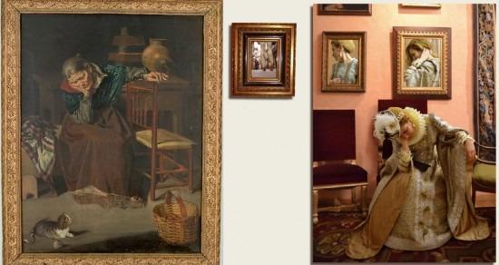 Interior de Leopoldo Villamil y la reinterpretación de la artista Paula Cabaleiro.