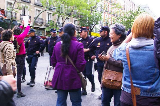 Escrache Feminista en Madrid./ Gaelx