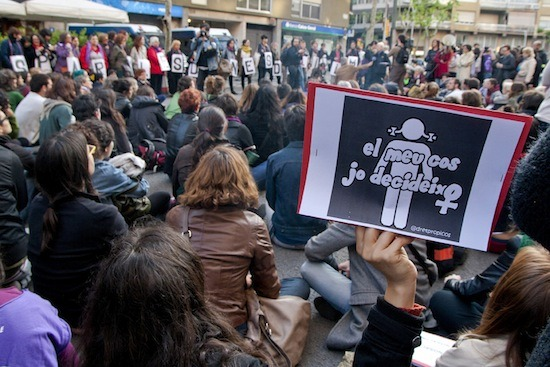 Escrache Feminista Barcelona./ Bárbara Boyero