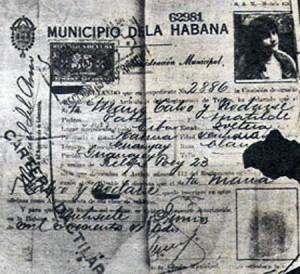 Licencia de conducir de La Macorina