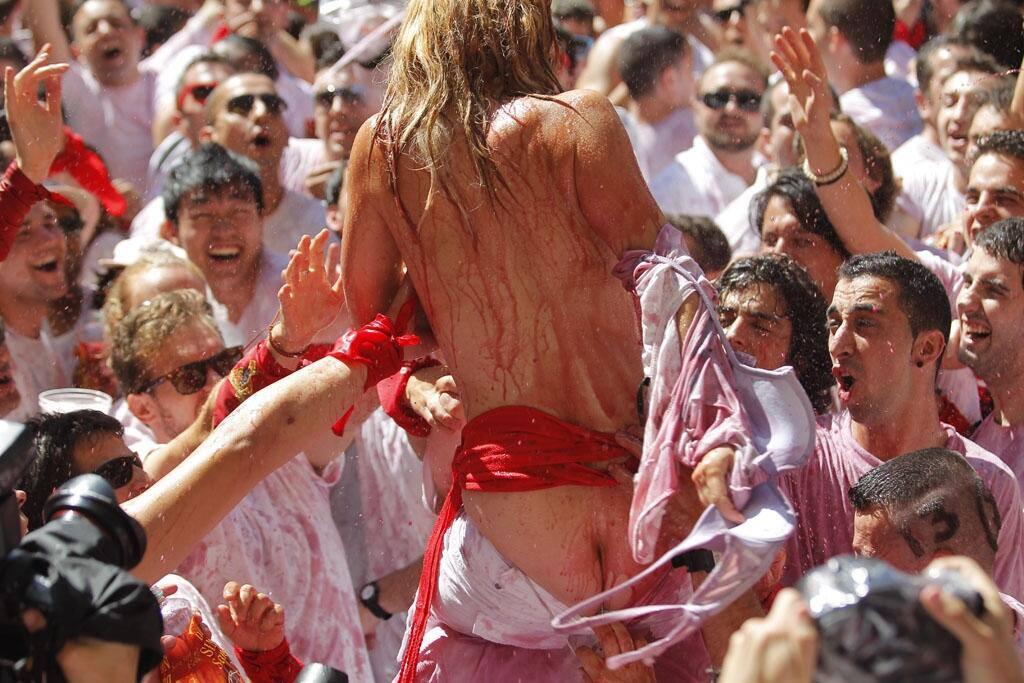 Acoso sexista en San Fermín./ Argia