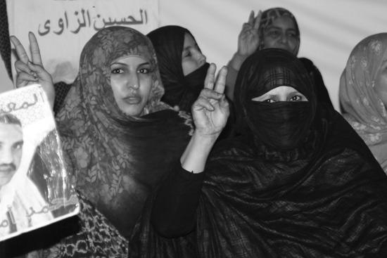 Las saharauis son voz y altavoz de las reivindicaciones por la autodeterminación de su pueblo.-Andrea Momoitio
