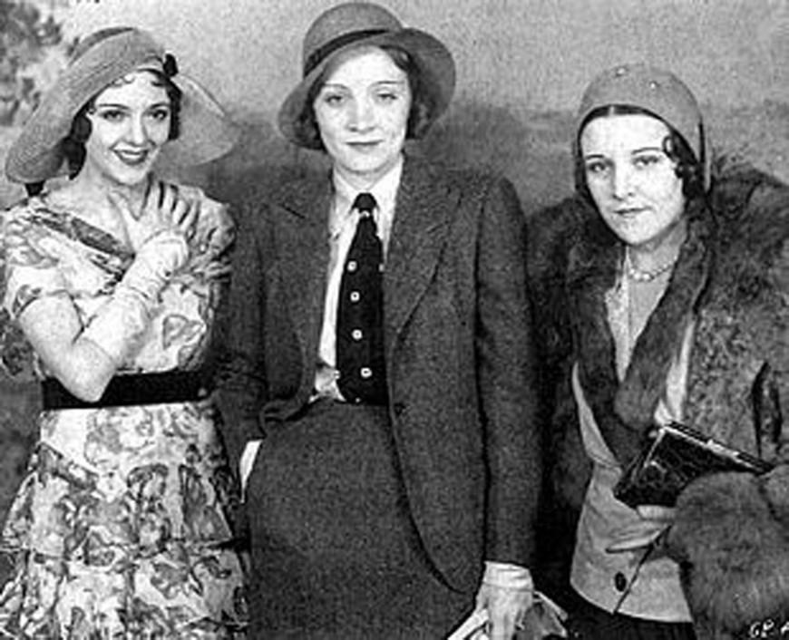 De derecha a izquierda: Imperio Argentina y Marlene Dietrichio-y-marlene