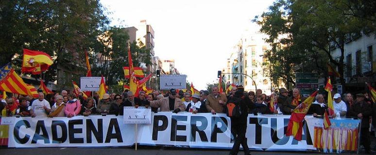 Manifestación de la Asociación de Víctimas del Terrorismo en 2007. Fotógrafo.- José María Mateos