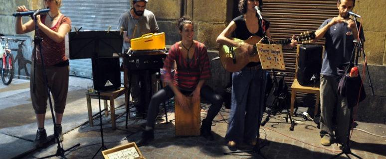 Puro Luego durante uno de sus conciertos en Bilbao .- Fotógrafa: Virginia G. Enebral