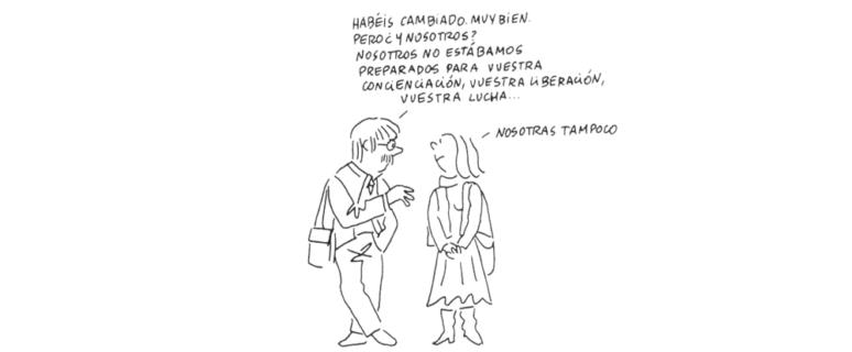 Ilustración de Nuria Pompeia, galardonada con el I premio Honorífico de la AAC