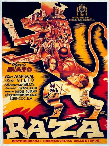 Cartel de 'Raza', película dirigida por Francisco Franco
