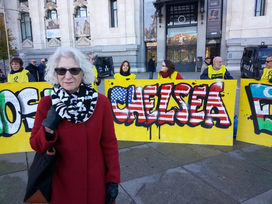 Nancy Hollander, durante el acto de Amnistía Internacional por el Día de los Derechos Humanos © Amnistía Internacional