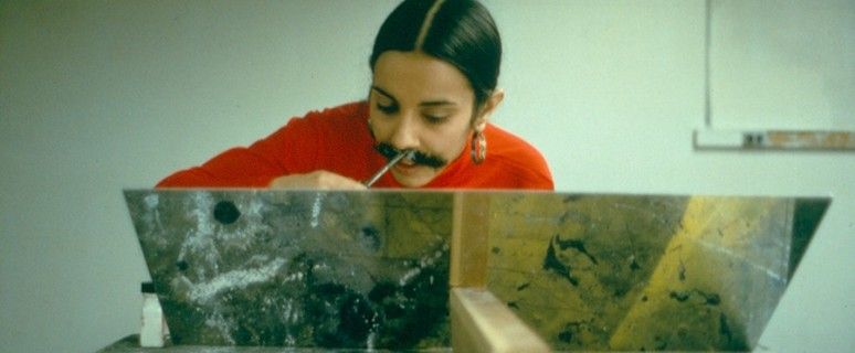 Implante de vello facial./ The Estate of Ana Mendieta Collection