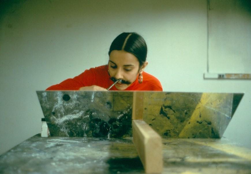Implante de vello facial./ The Estate of Ana Mendieta Collection