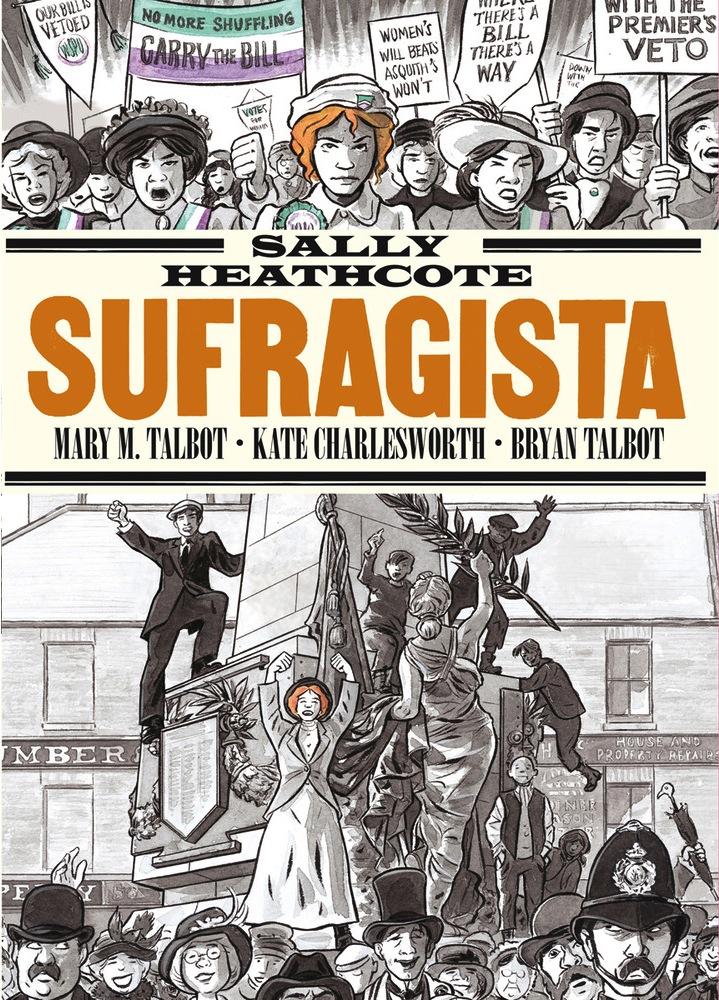 Portada de la novela gráfica 'Sufragista'