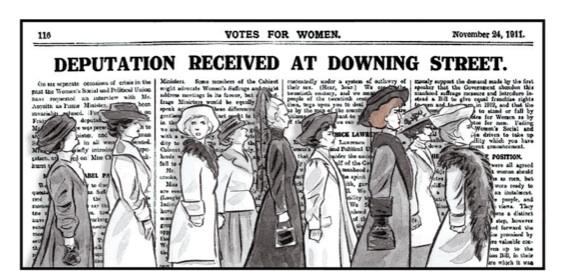 Delegación de sufragistas