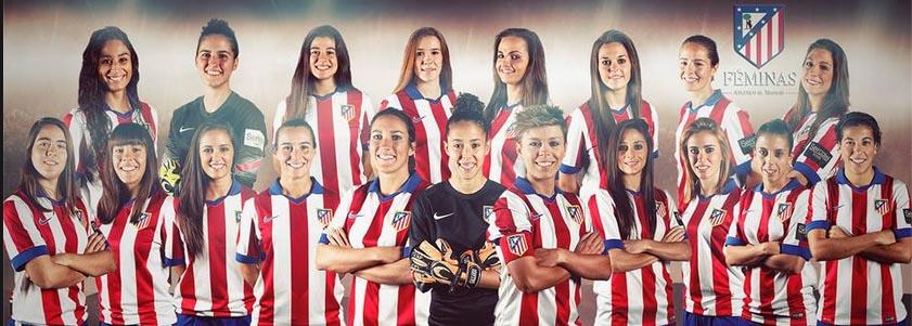 """Imagen promocional del Atlético Féminas. Silvia Meseguer (fila inferior, quinta por la derecha): """"Pocas se pueden permitir dedicación plena para competir a un nivel superior""""."""