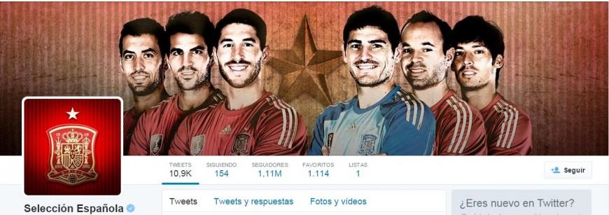 En la portada de Twitter de la selección española, solo aparecen los hombres