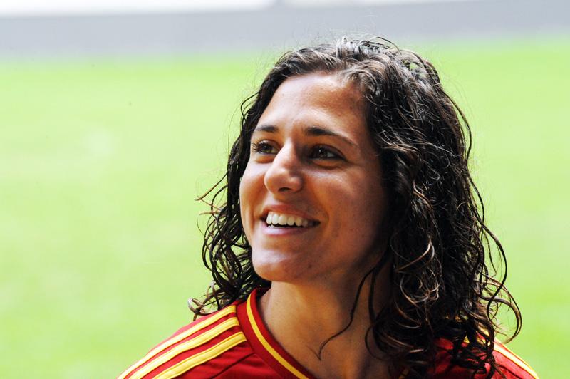 La futbolista internacional Vero Boquete es referente en derechos del deporte femenino.