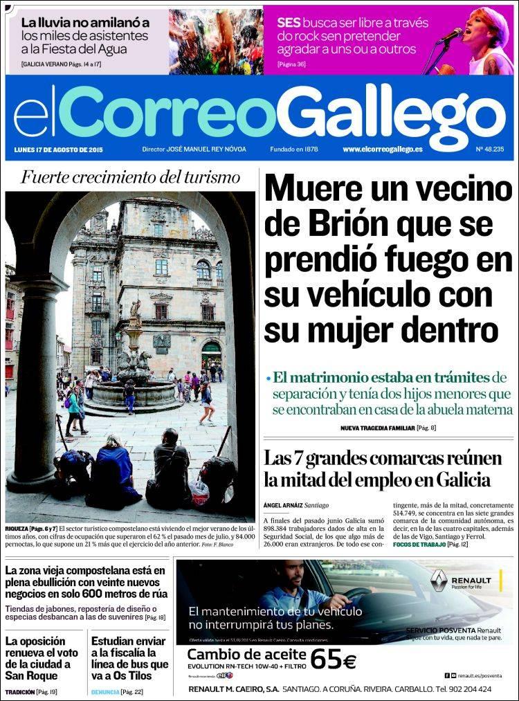 Portada El Correo Gallego