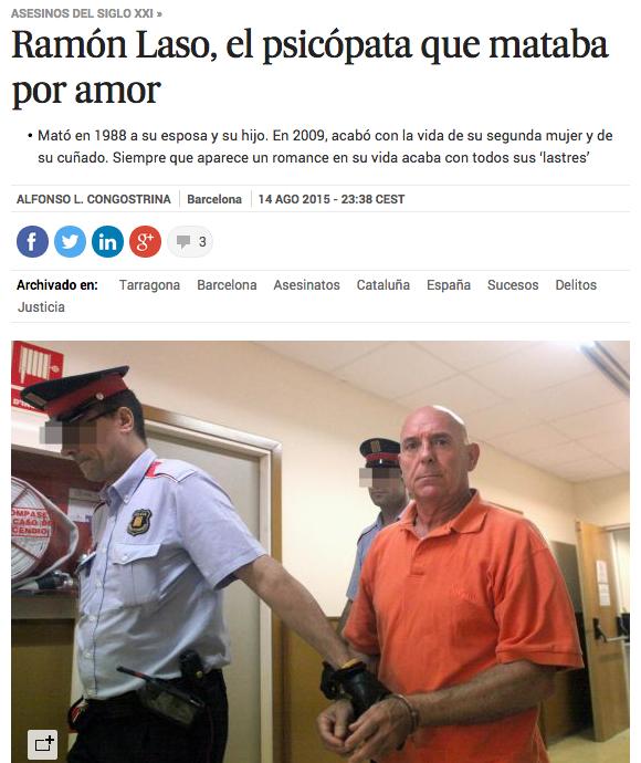 """El País, """"el psicópata que mataba por amor"""""""