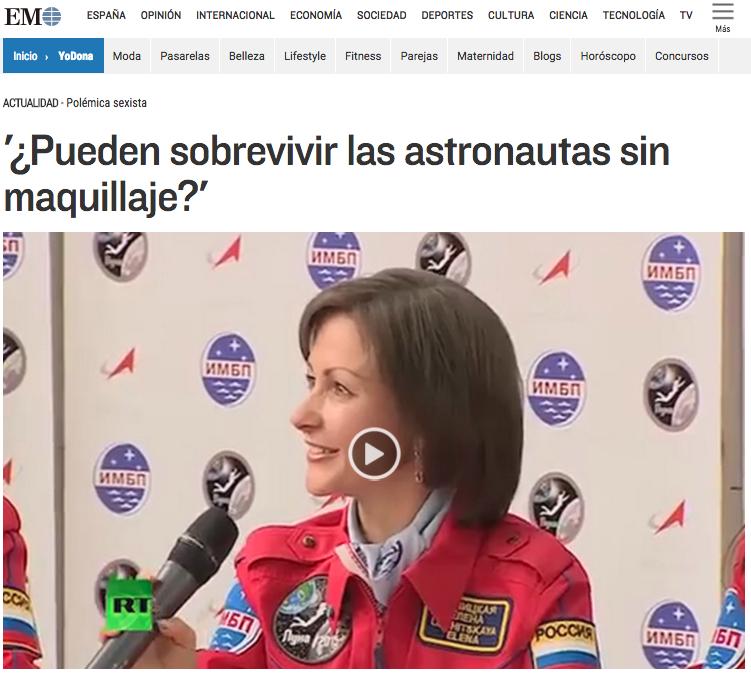 ¿Pueden sobrevivir las astronautas sin maquillaje?