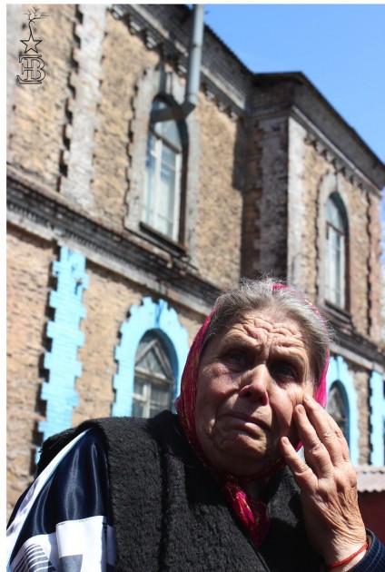 Una veïna del menjador popular de caritat d'Alchevsk./ Edurne Batanero