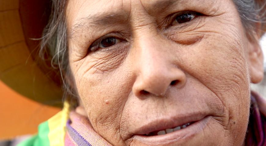 Rosalía Clemente, lideresa indígena de Perú y campesina./ L.M.