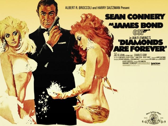 Cartel del film 'Diamantes para la eternidad'