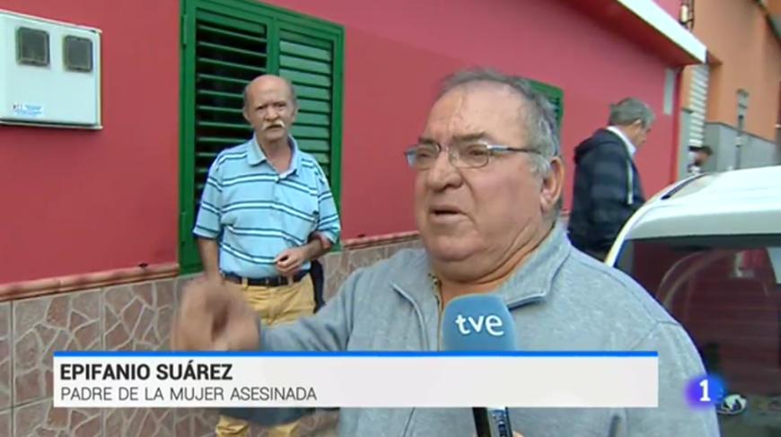 El padre de una asesinada habla para el Telediario de TVE
