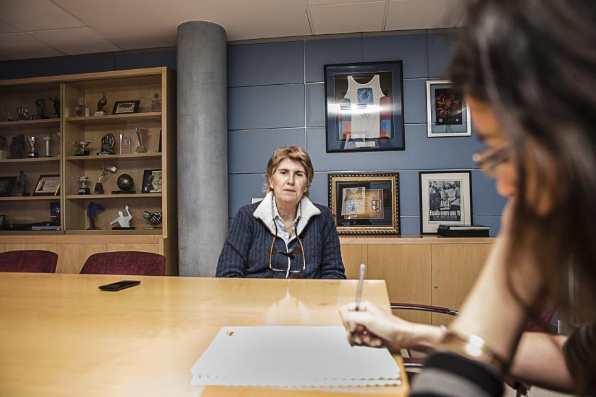Un momento de la entrevista la sede de TVE en Madrid. /Foto: J. Marcos