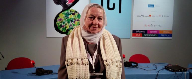 Gamila , durante su participación en el Encuentro Mujeres que Transforman el Mundo./ Irina Pertierra