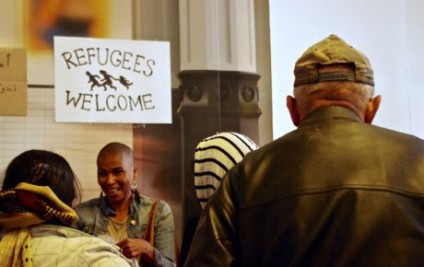 Tess Asplund, en su activismo por el derecho al asilo./ Agneta Sandell