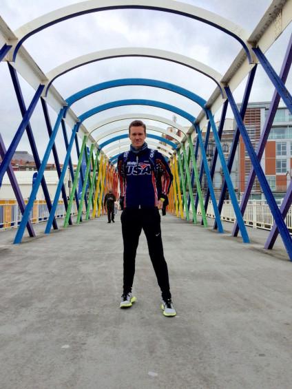 El triatleta Chris Mosier es el único transexual que ha competido en un Mundial./ Zhen Heinemann