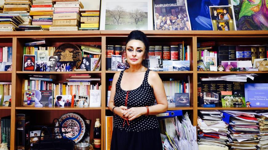 Enre Keskin, abogada, defensora de los derechos humanos y de las mujeres retenida en Turquía./ Lucía Muñoz