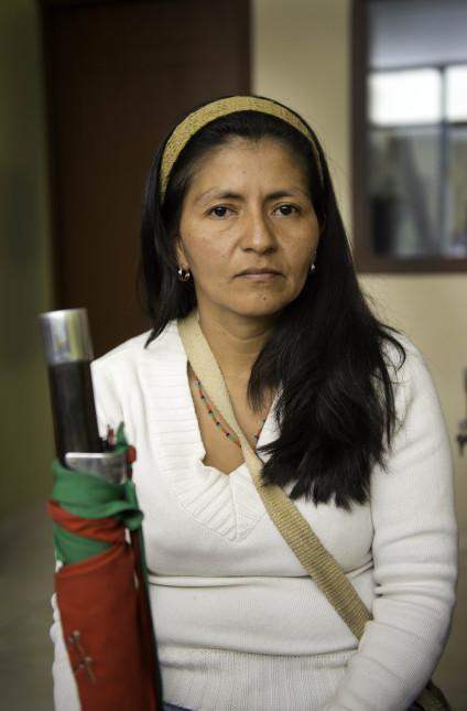 Luz Marina Flor con su bastón de mando de gobernadora: / Foto: Álex Zapico