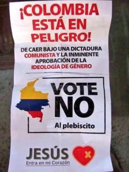 Uno de los carteles de la campaña del 'No'