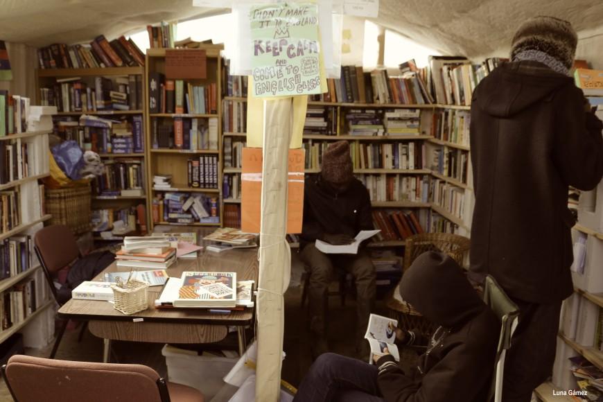 La biblioteca es un lugar de refugio caliente para estudiar, leer un libro o consultar un diccionario. / Foto: Luna Gámez