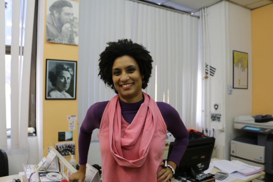 Marielle Franco en su despacho de la Asamblea Legislativa del Estado de Rio de Janeiro. /Foto: Luna Gámez
