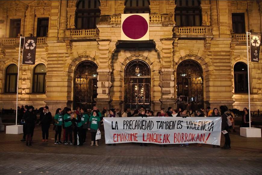 Las trabajadoras de las residencias denunciaron que la precariedad es otra forma de violencia. /Foto: Andrea Bosch