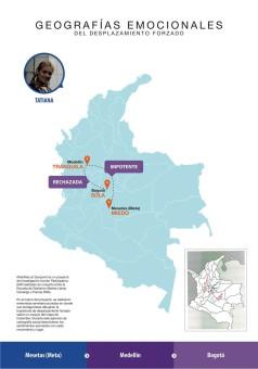 El mapa de la memoria de Tatiana.