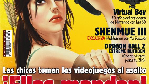 Portada de una revista Hobby sobre mujeres en los videojuegos