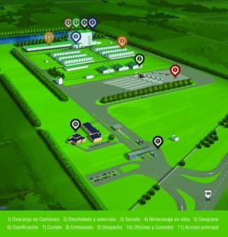 Plano de la planta que querían construir en Malvinas Argentinas. / Monsanto
