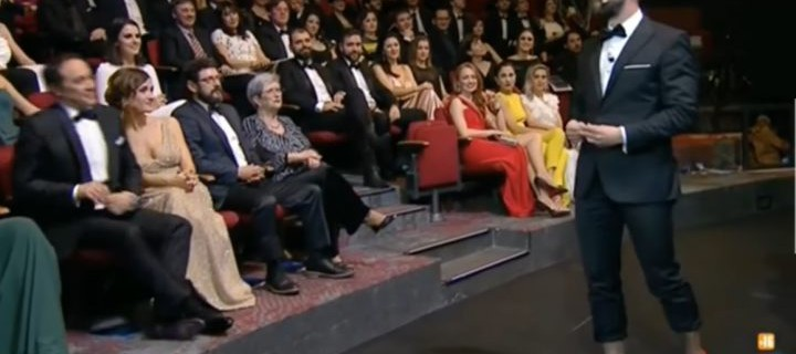 momento de la Gala, con Dani Rovira con tacones.