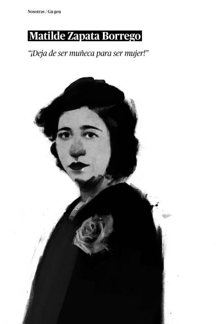 Matilde Zapata. / Ilustración: Germán Alonso 'Pango'.