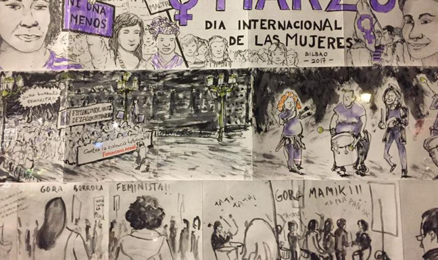 Muestra de ilustraciones de la manifestación