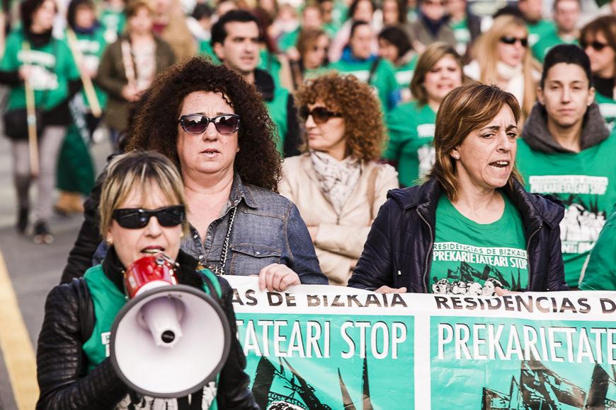 La lucha de las trabajadoras de las residencias nació hace más de un año. / Foto: J.Marcos