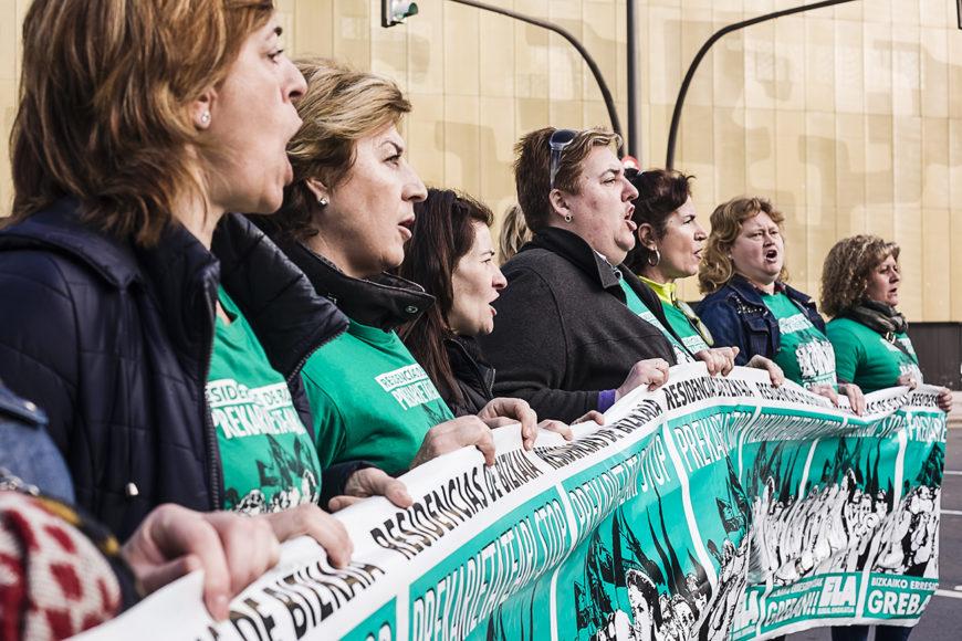 Imagen de una de las decenas de manifestaciones de las trabajadoras. / Foto: J. Marcos