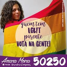 Cartel de Amara Moira durante su campaña electoral.